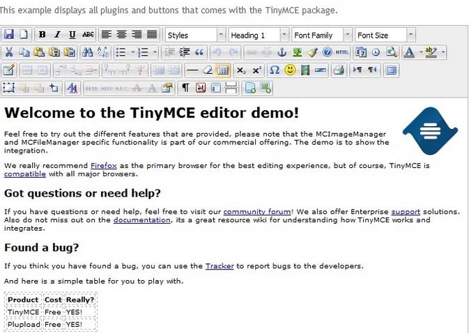 TinyMCE advanced editor for wordpress