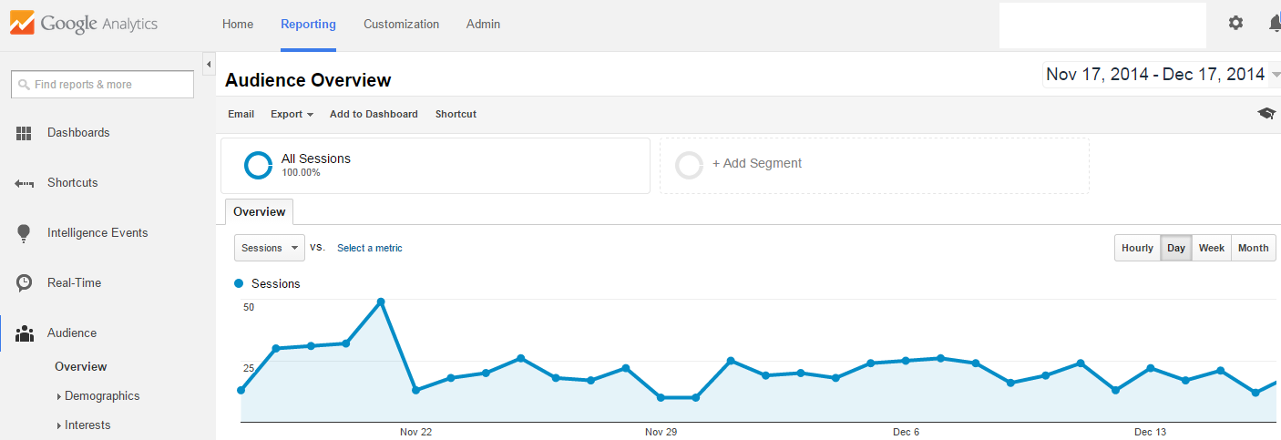 audience overview in analytics tool